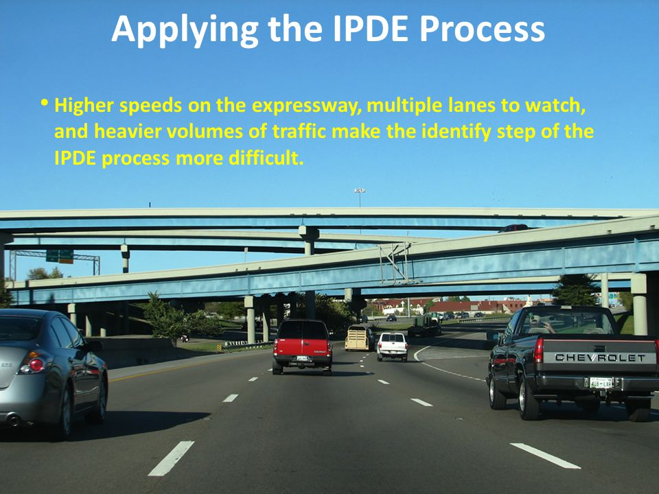 Applying the IPDE Process