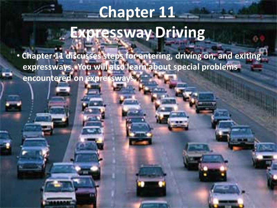 Chapter 11 Expressway Driving