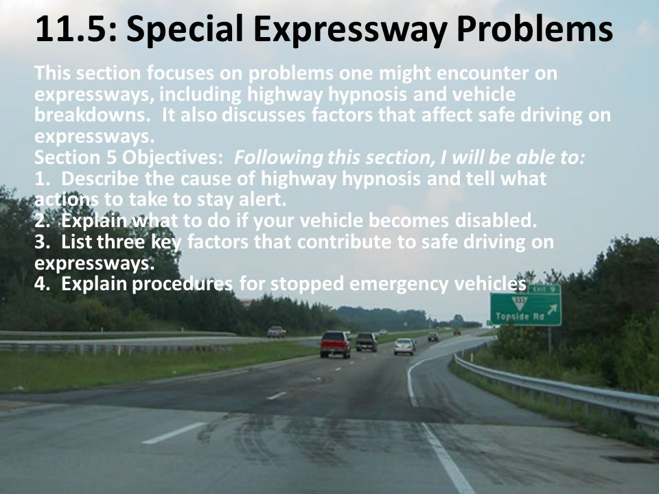 11.5: Special Expressway Problems