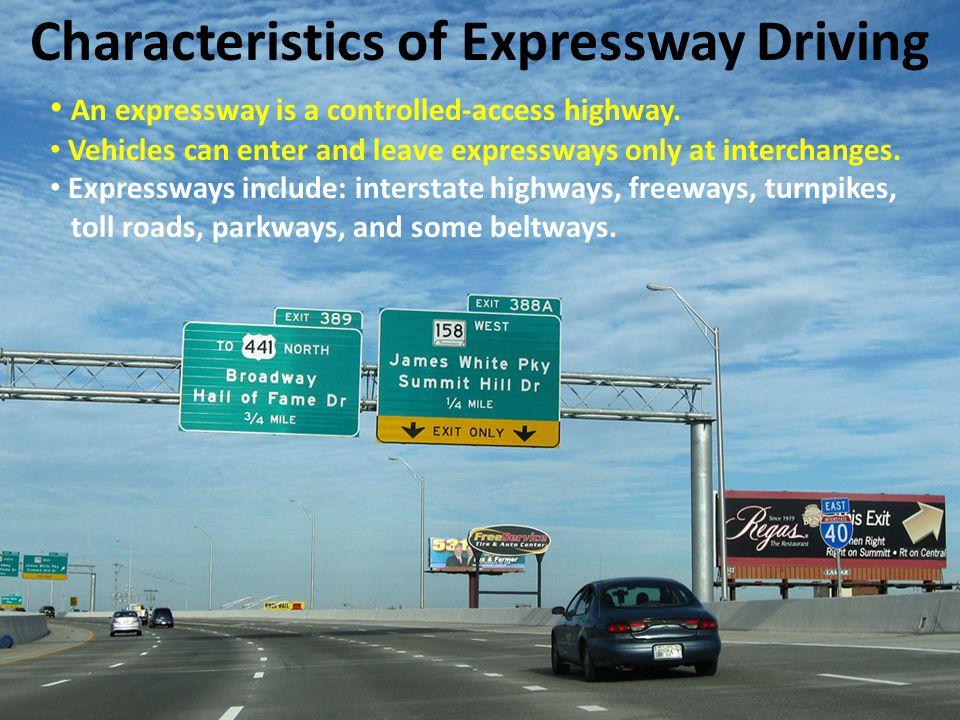 Characteristics of Expressway Driving