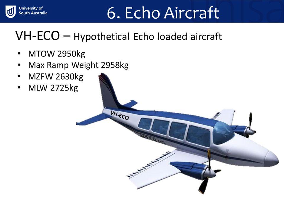 6. Echo Aircraft VH-ECO – Hypothetical Echo loaded aircraft