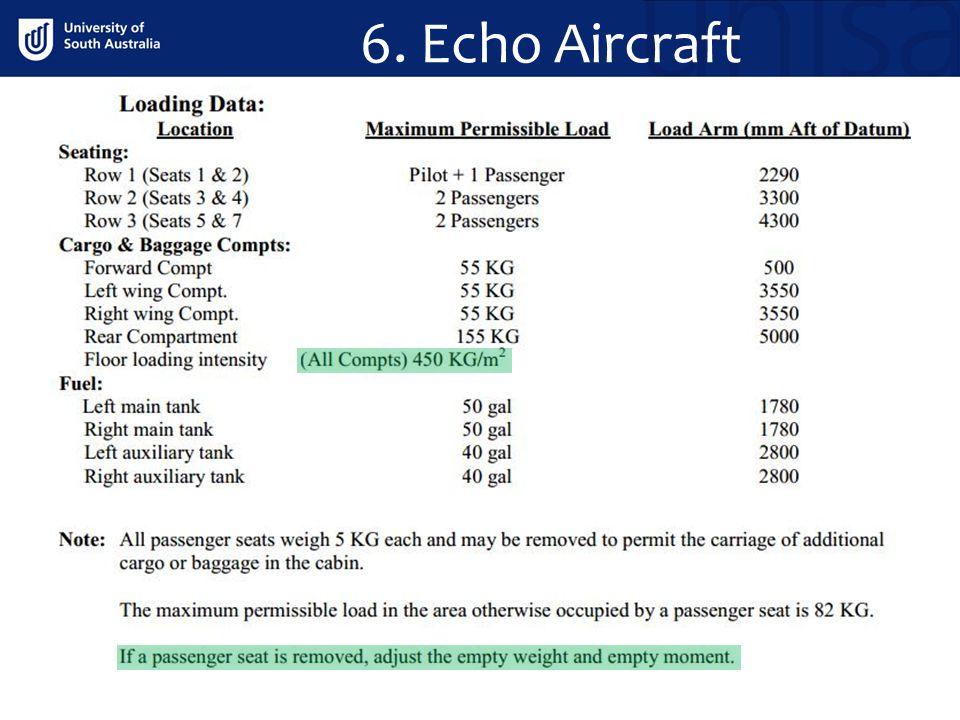 6. Echo Aircraft . .