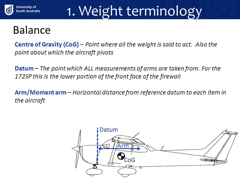 1. Weight terminology Balance