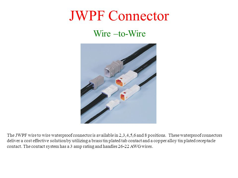 JWPF Connector Wire –to-Wire