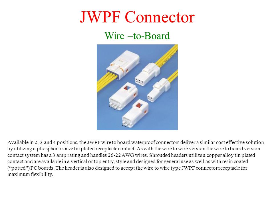 JWPF Connector Wire –to-Board