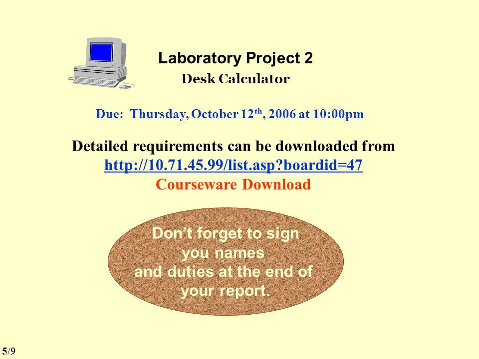 Due: Thursday, October 12th, 2006 at 10:00pm