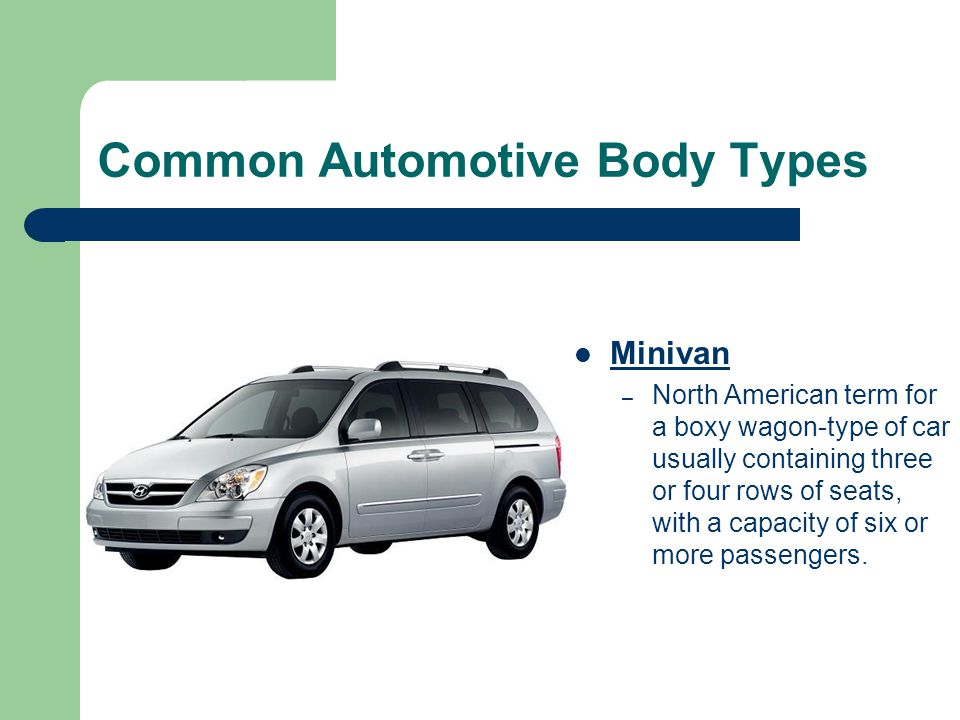 Common Automotive Body Types