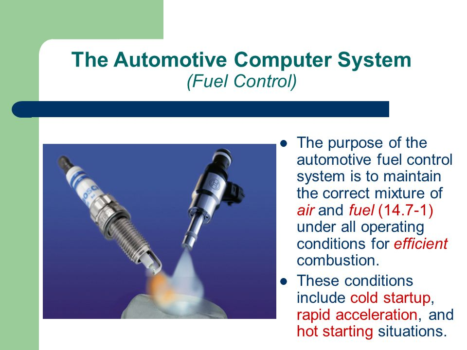 The Automotive Computer System (Fuel Control)