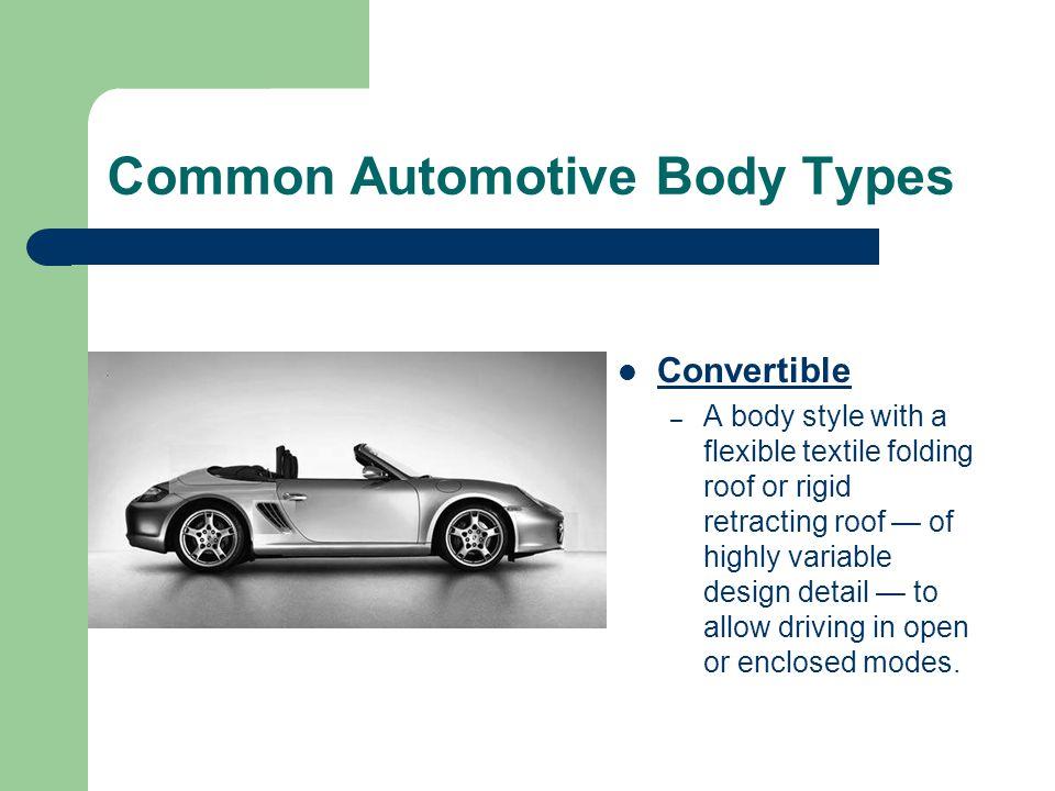 Common Automotive Body Types