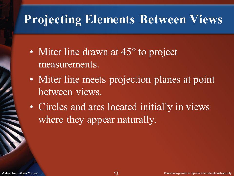 Projecting Elements Between Views