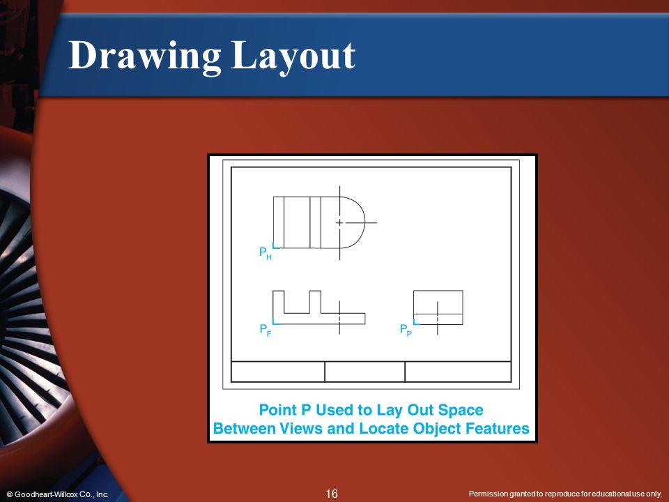 Drawing Layout © Goodheart-Willcox Co., Inc.