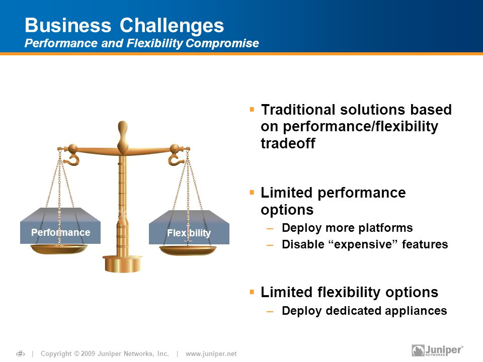 Business Challenges Performance and Flexibility Compromise