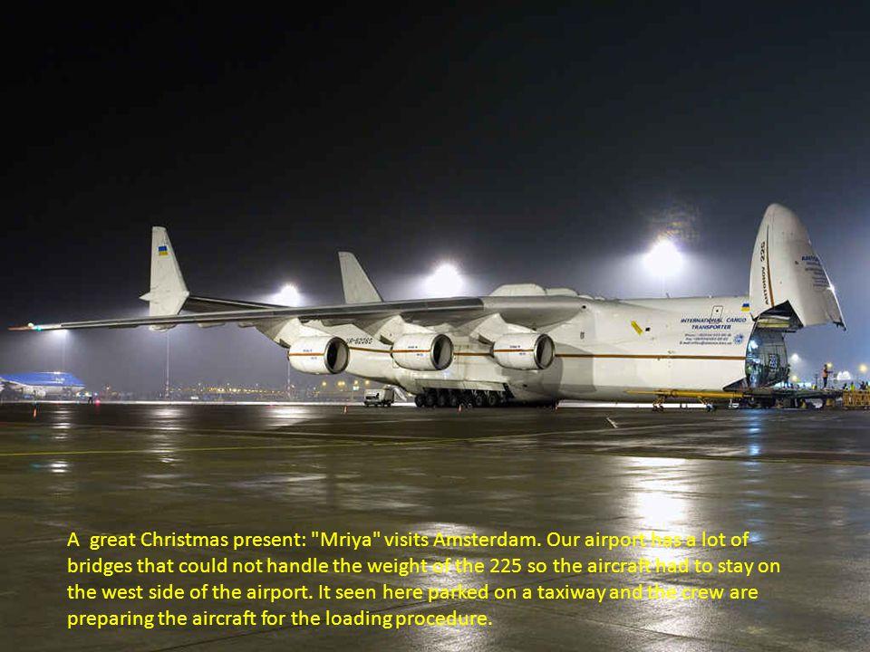 A great Christmas present: Mriya visits Amsterdam