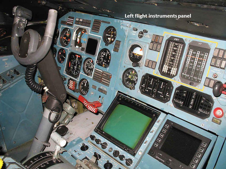 Left flight instruments panel