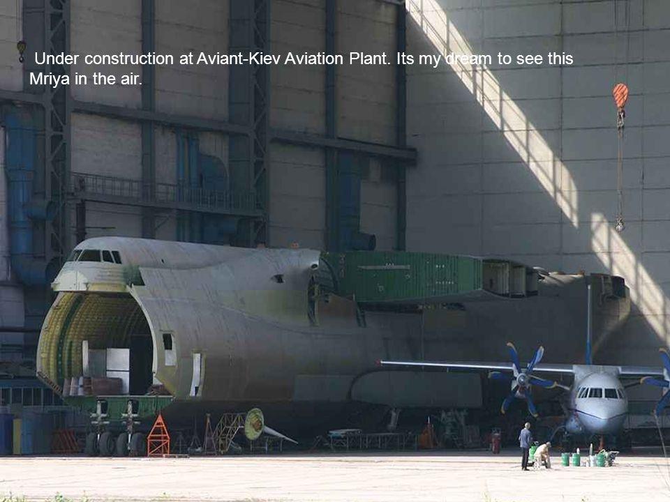 Under construction at Aviant-Kiev Aviation Plant