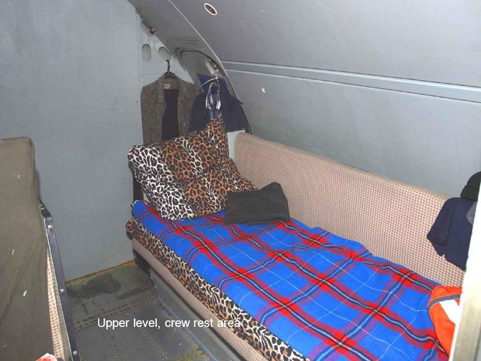 Upper level, crew rest area