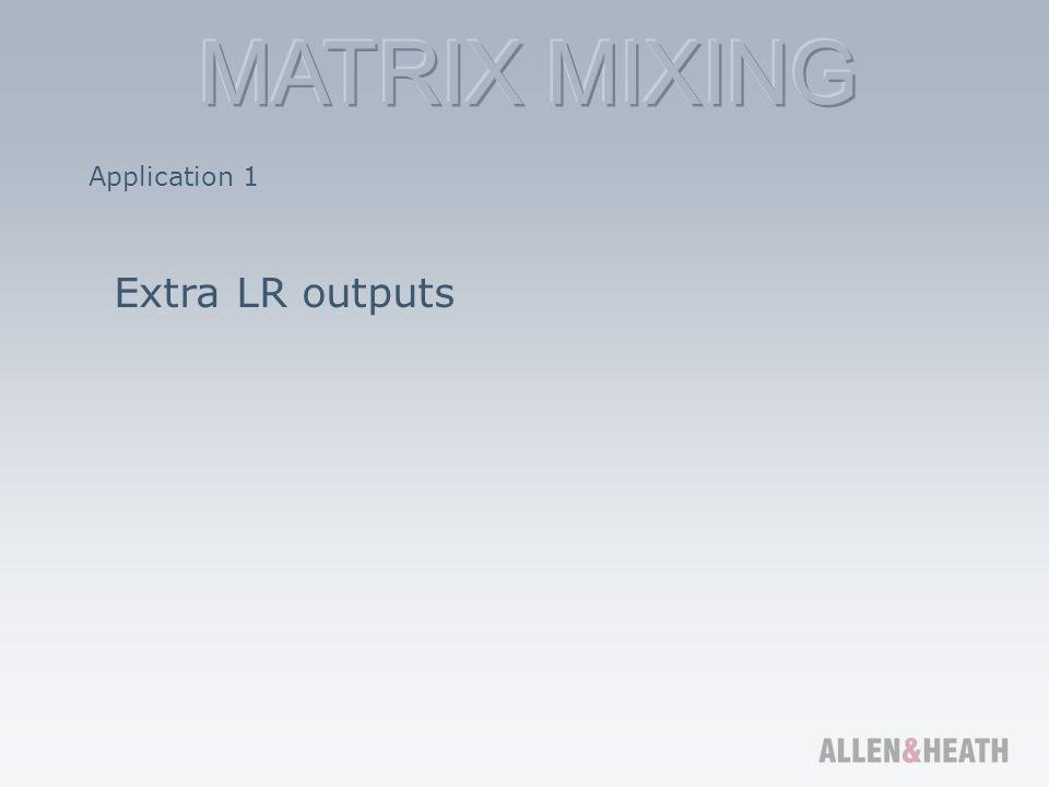Application 1 Extra LR outputs