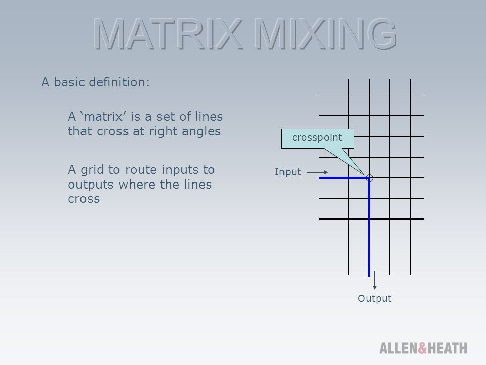 A 'matrix' is a set of lines that cross at right angles
