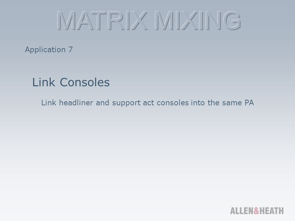 Link Consoles Application 7