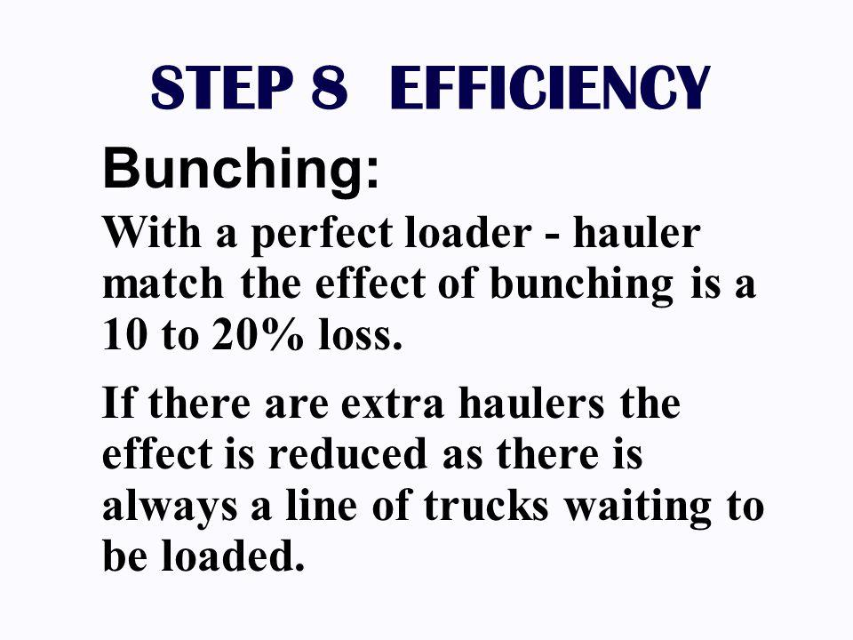 STEP 8 EFFICIENCY Bunching: