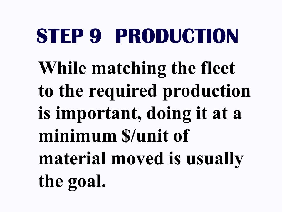 STEP 9 PRODUCTION