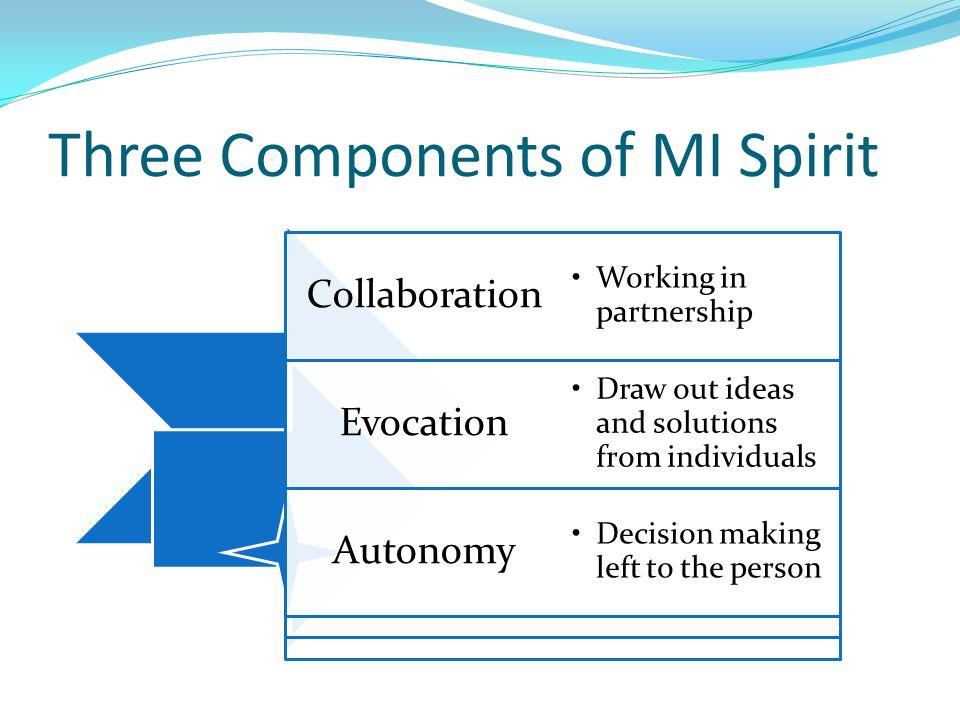 Three Components of MI Spirit