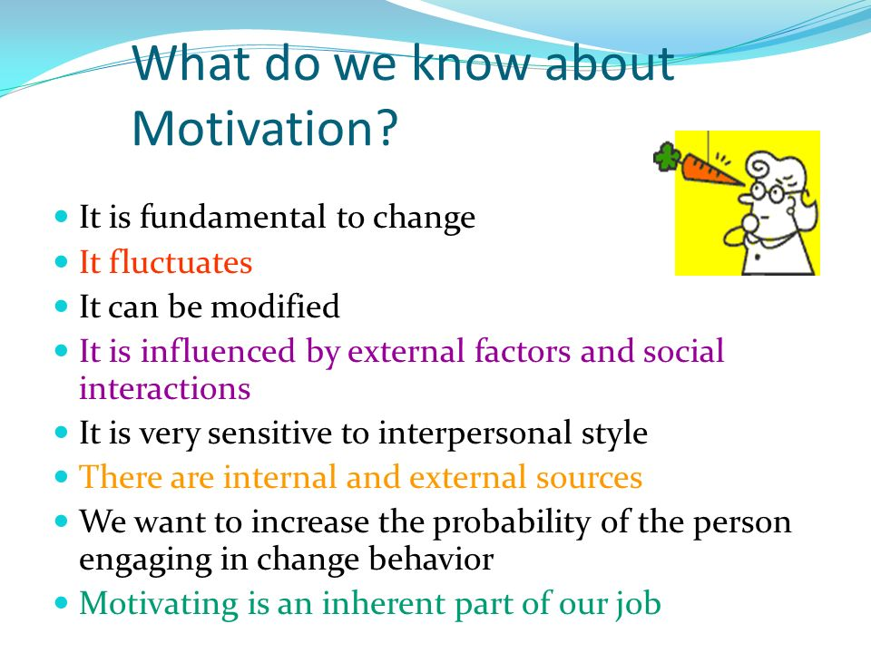 What do we know about Motivation