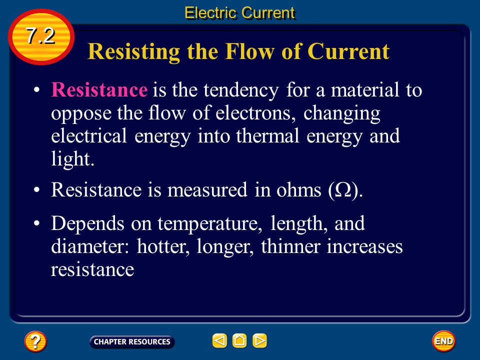 Resisting the Flow of Current