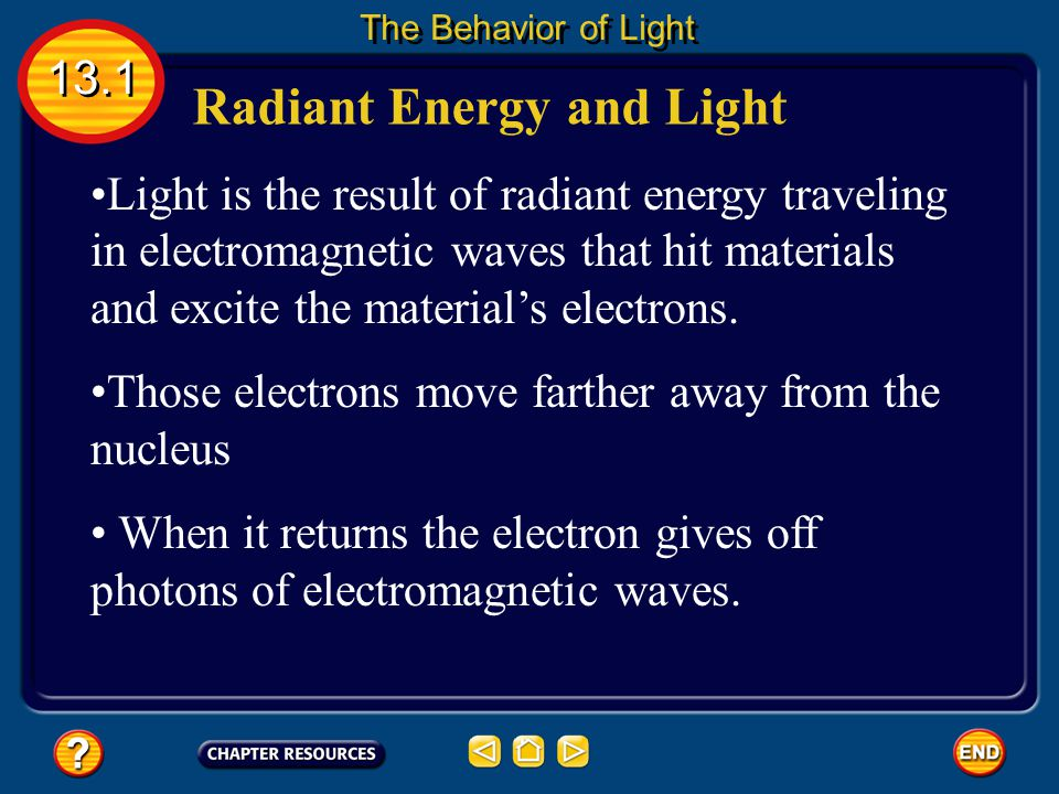 Radiant Energy and Light