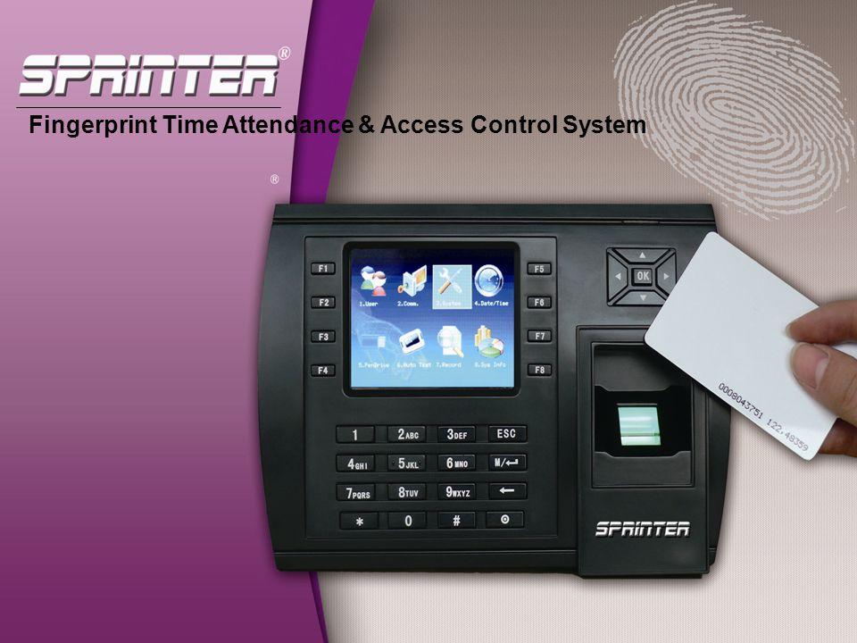 Fingerprint Time Attendance & Access Control System