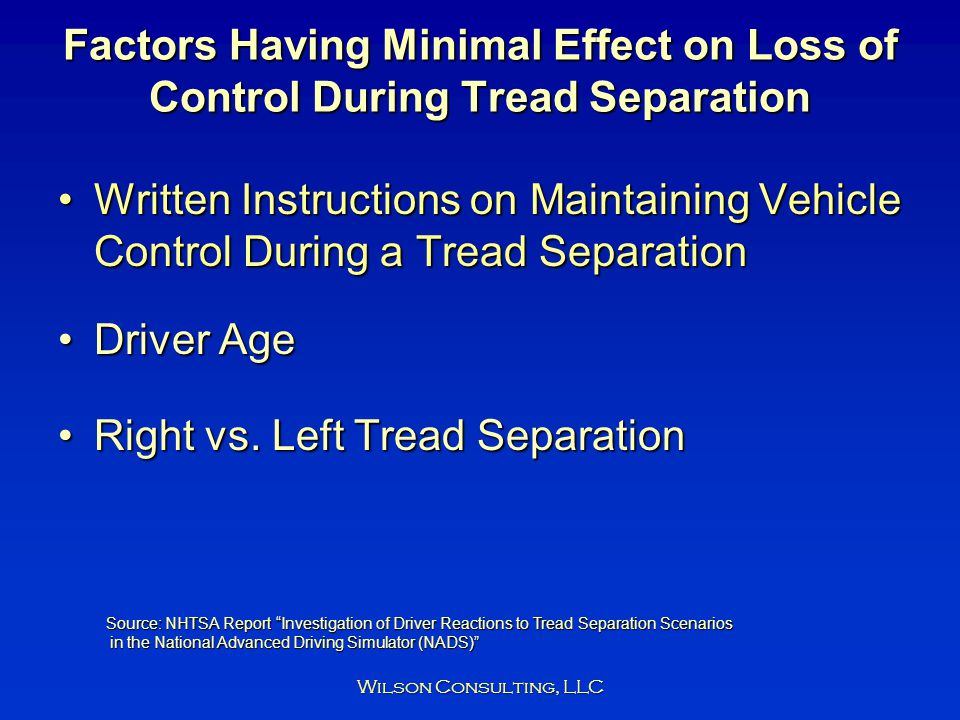 Right vs. Left Tread Separation