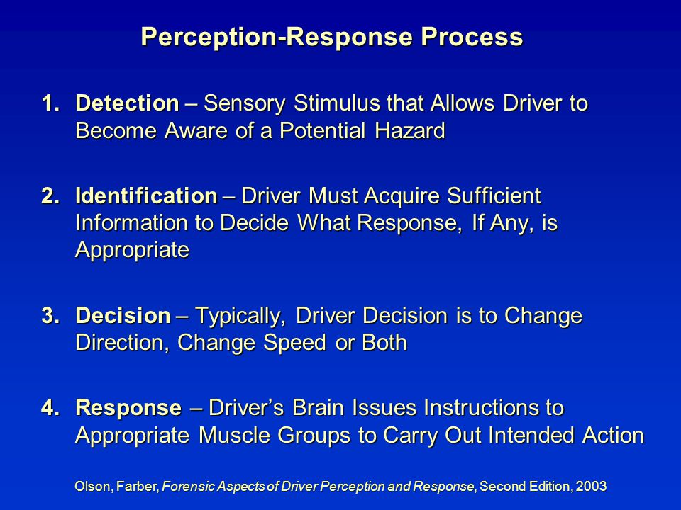 Perception-Response Process