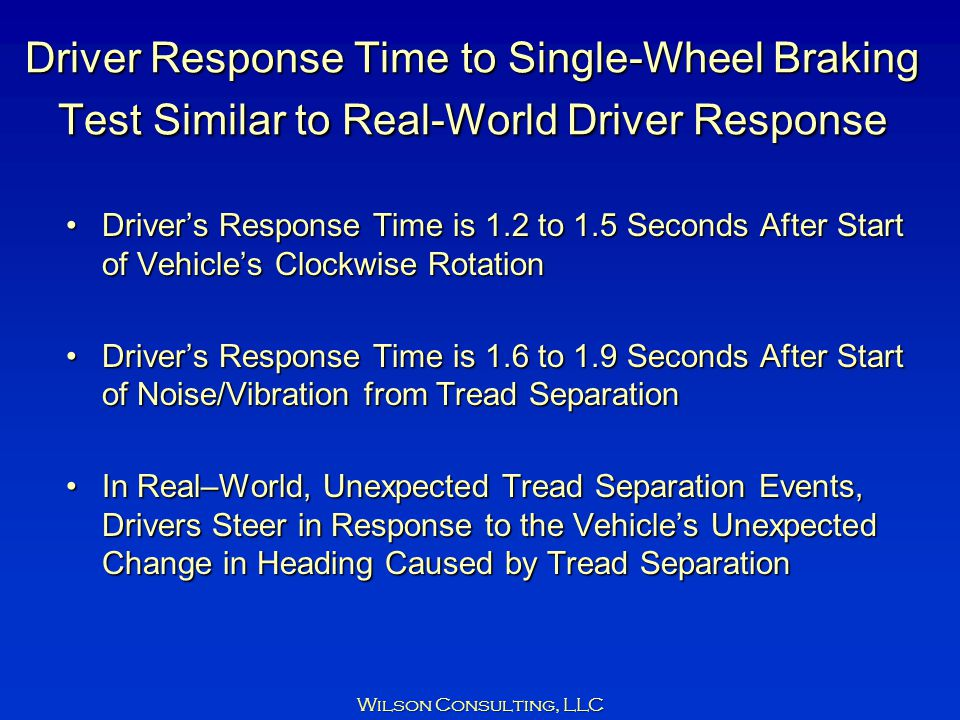 Driver Response Time to Single-Wheel Braking Test Similar to Real-World Driver Response