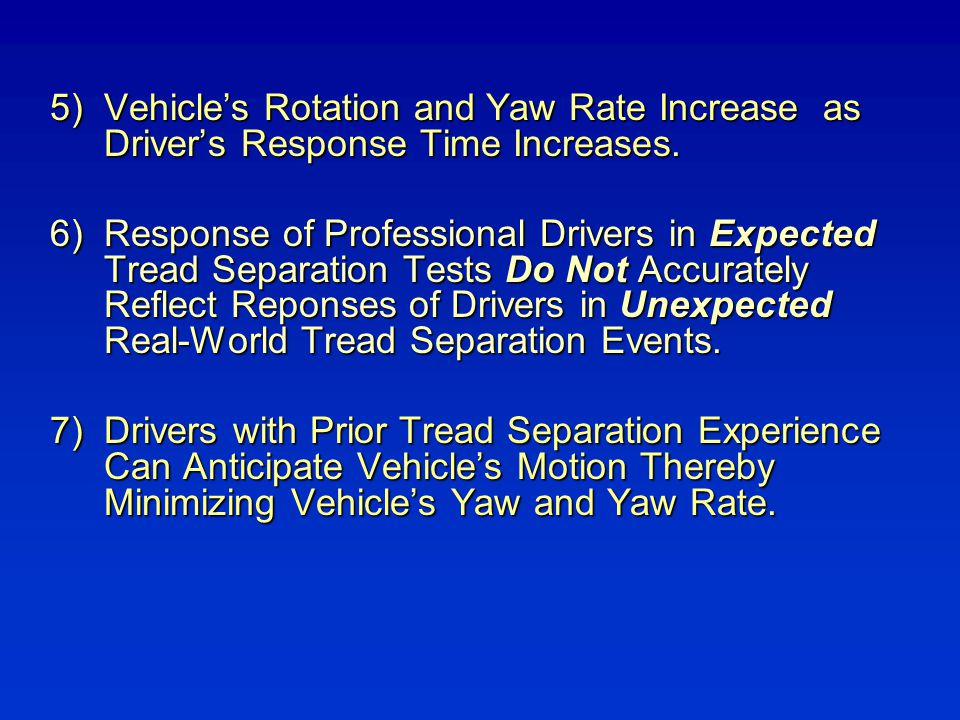 Vehicle's Rotation and Yaw Rate Increase as Driver's Response Time Increases.
