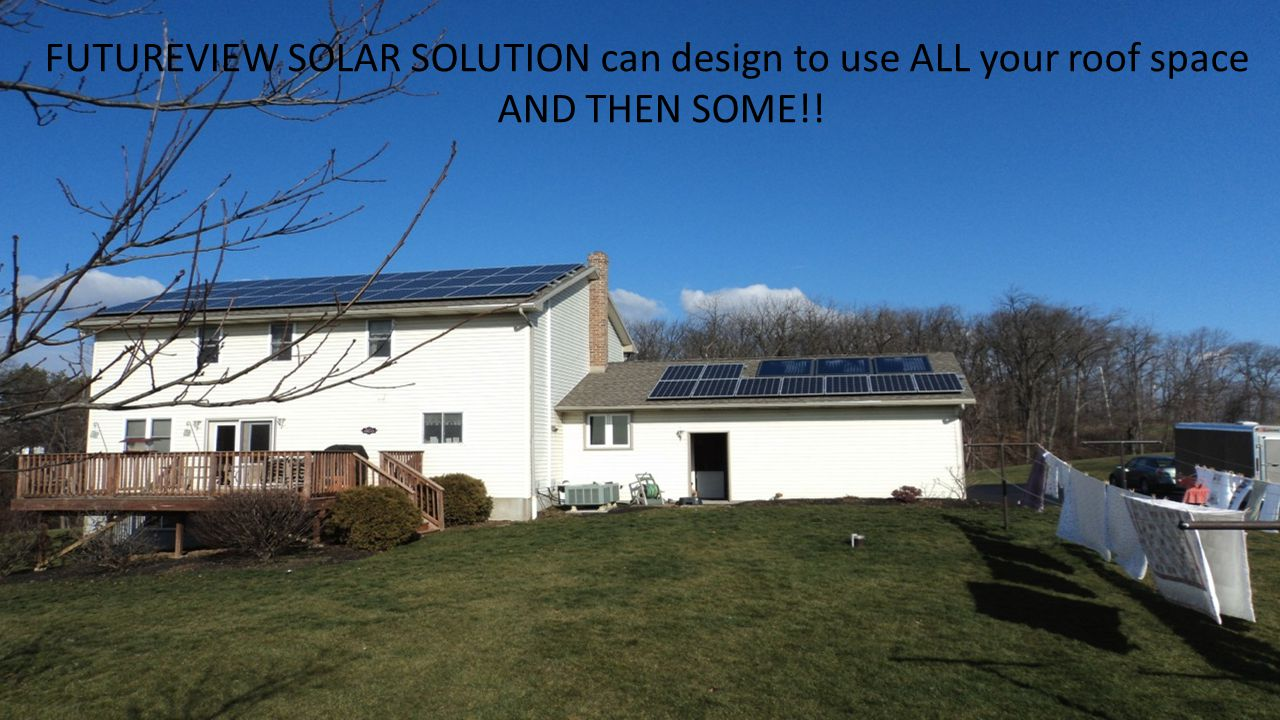 FUTUREVIEW SOLAR SOLUTION can design to use ALL your roof space