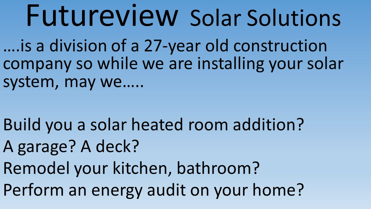 Futureview Solar Solutions