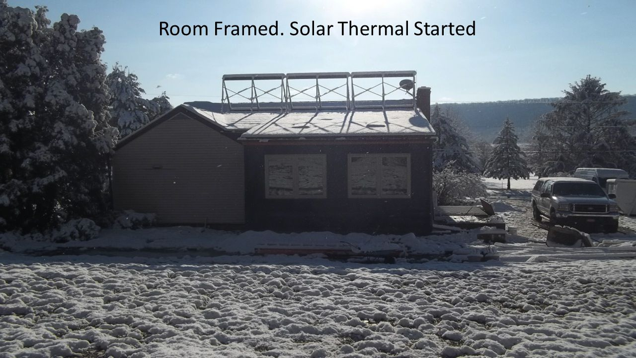 Room Framed. Solar Thermal Started