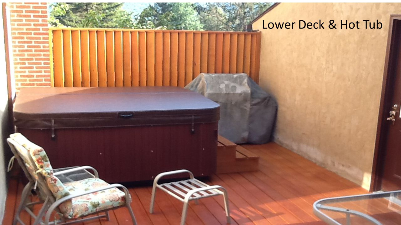 Lower Deck & Hot Tub