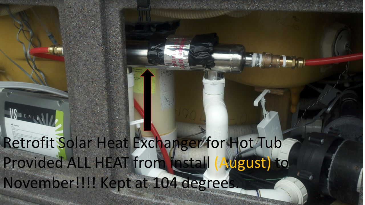 Retrofit Solar Heat Exchanger for Hot Tub