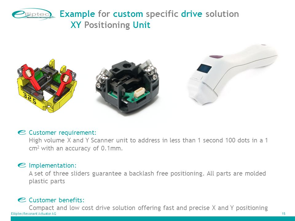 Example for custom specific drive solution XY Positioning Unit
