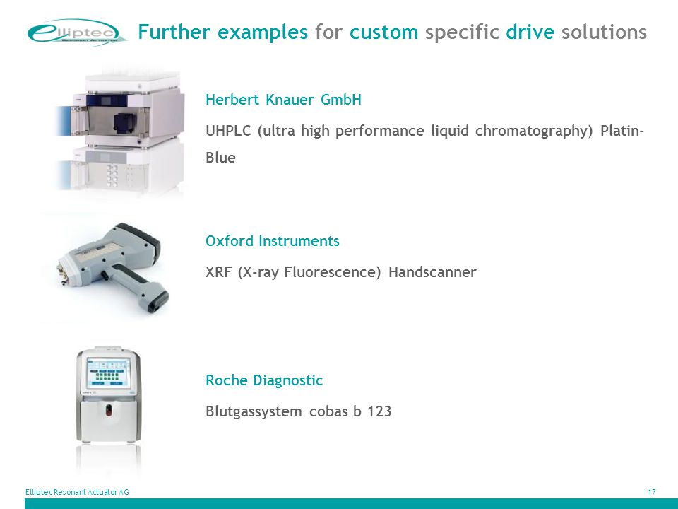 Further examples for custom specific drive solutions