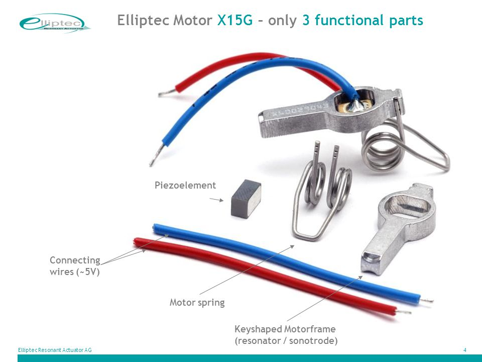 Elliptec Motor X15G – only 3 functional parts