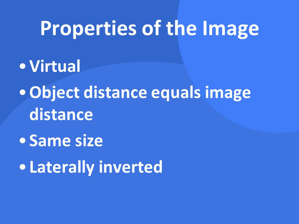 Properties of the Image