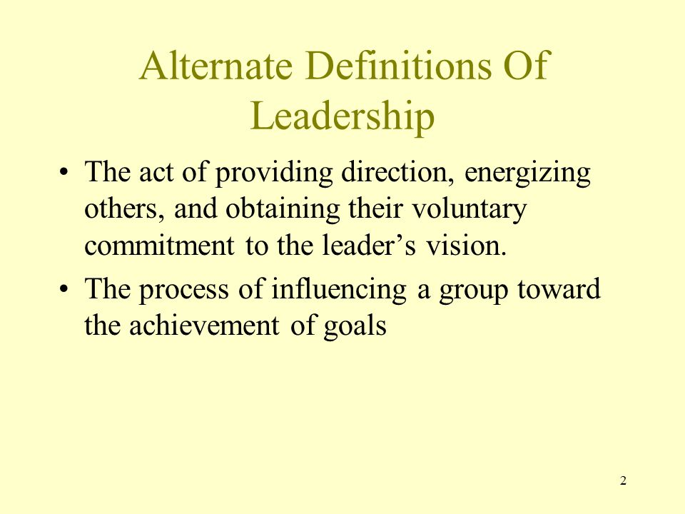 Alternate Definitions Of Leadership