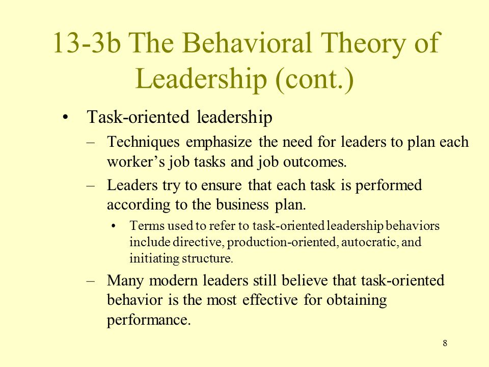 13-3b The Behavioral Theory of Leadership (cont.)