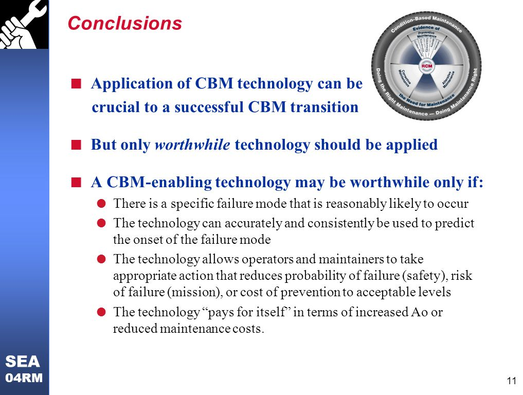 Conclusions Application of CBM technology can be