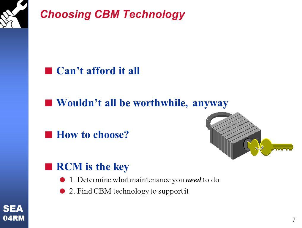 Choosing CBM Technology