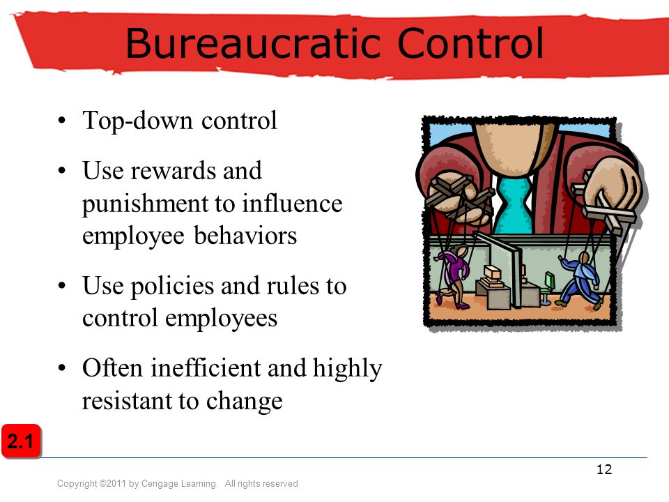 Bureaucratic Control Top-down control