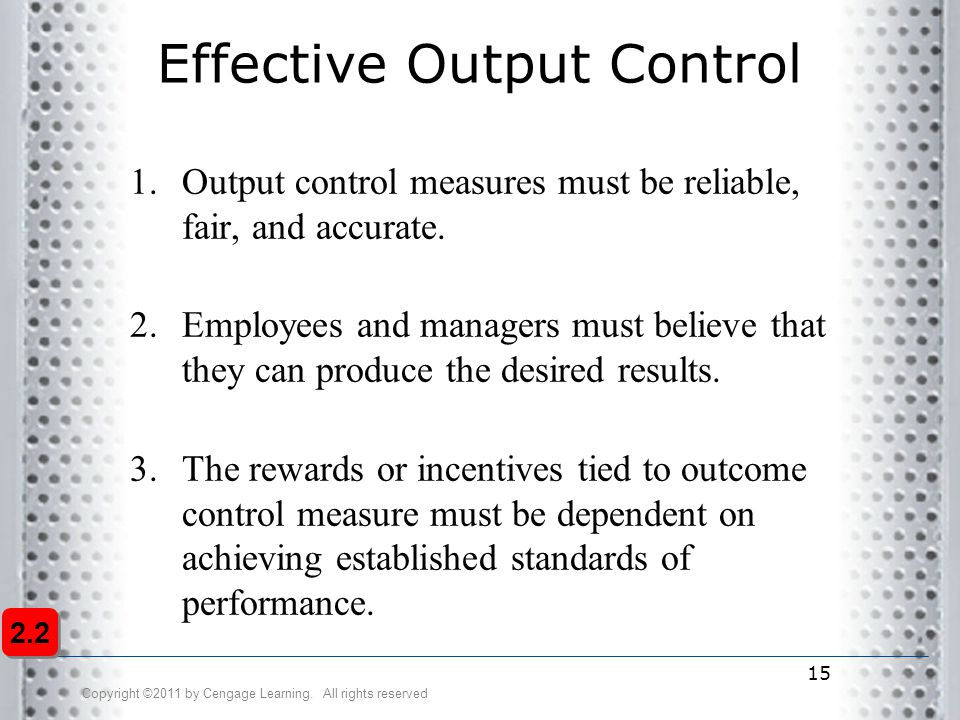 Effective Output Control