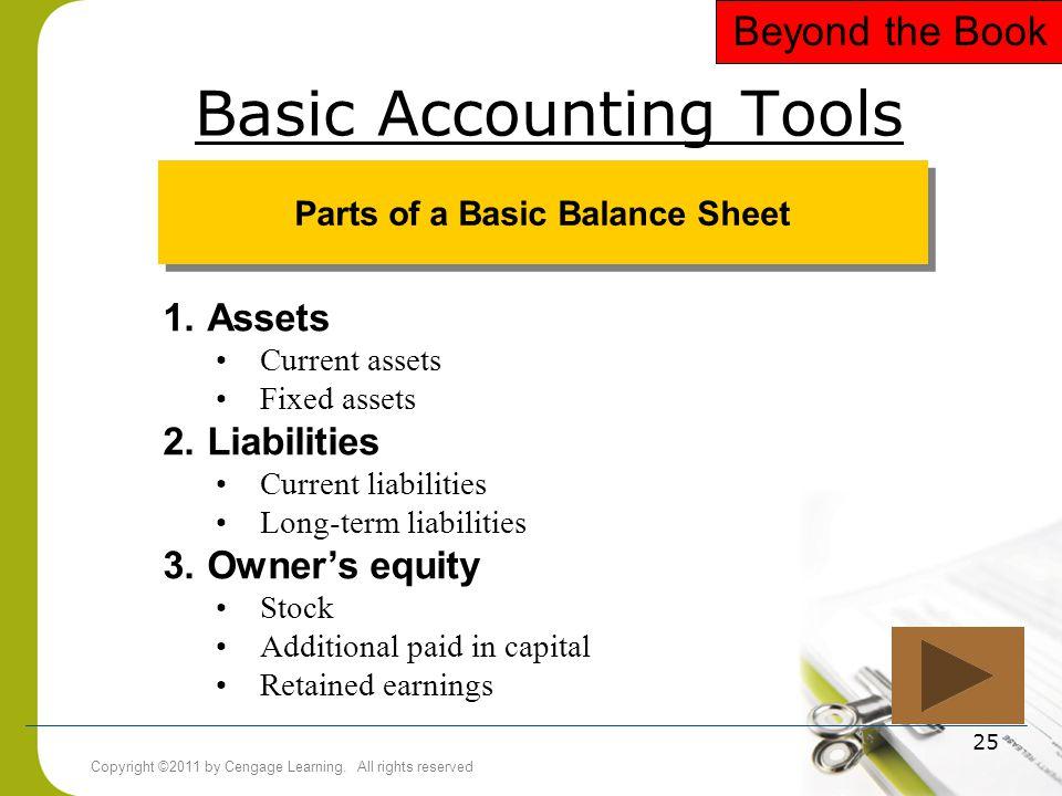 Basic Accounting Tools